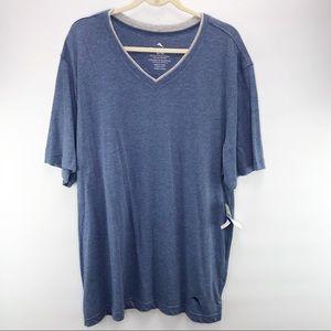 Tommy Bahama Blue V-neck Short Sleeve T-shirt XL